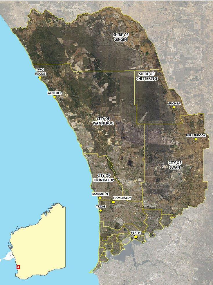 Gnangara aerial map